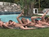 Massive Poolside Pussy Orgy