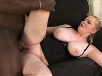 Thick And Busty Blond Gets Some Black Cock