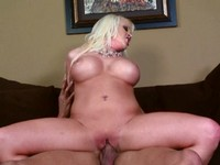 Busty Tattooed Blonde Fuck and Facial
