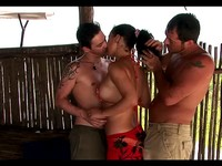 Beach Hut Anal Group Sex Party