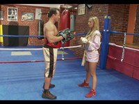 Busty Blond Babe Fucked By Boxing Coach