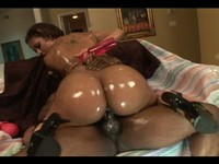 Oiled Up Black Booty Slut Get's Fucked Deep