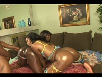 Booty Overload Ebony Threesome