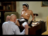 Hot Dark Haired Euro Maid Fucked