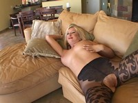 Busty Blond Milf Tia Sucks Black Cock