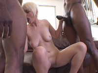 Blond Slut Claudia Black Cock Anal Threesome