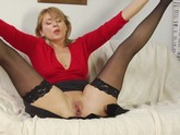 Blonde Milf fucks on the couch