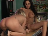 Mikayla and AJ Bailey Lesbian 01