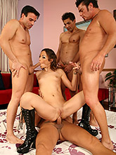 Amber's 4 Man Gang Bang