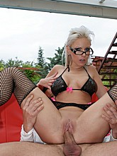 Hot Blonde Alexis Outdoor Fuck