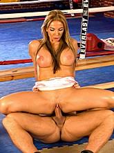Busty Blond Fucks Boxing Coach