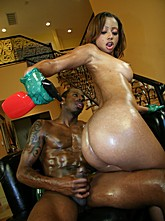 Ebony Babe Angel Oil and Fuck