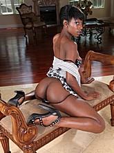 Slim Ebony Babe Ass Fucked