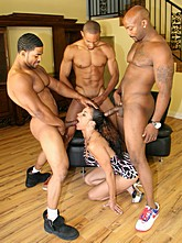 Alicia  Sucks Three Black Cocks