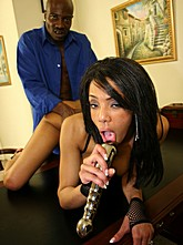 Ebony Babe Alicia Fucked in the Office