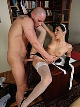 Sexy Lingerie Maid Fucked By Client
