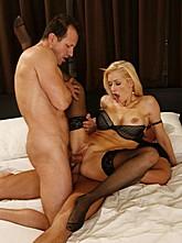 Sexy Blond Stacy Anal Threesome